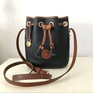 Dooney & Bourke Vintage Leather Mini Bucket Bag